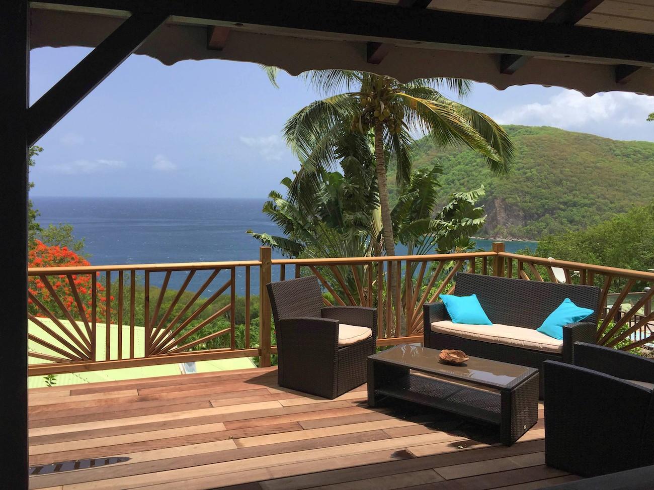 Villa palma guadeloupe 2 ch location villa vacances deshaies for Villa deshaies avec piscine